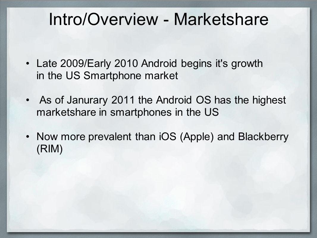 Intro/Overview - Relevant Devices Phones: HTC Thunderbolt Motorola Droid/2/X HTC Evo Samsung Nexus S +Many More Tablets: Motorola Xoom Samsung Galaxy Tab 4G Dell Streak Asus Eee-Pad Transformer +More