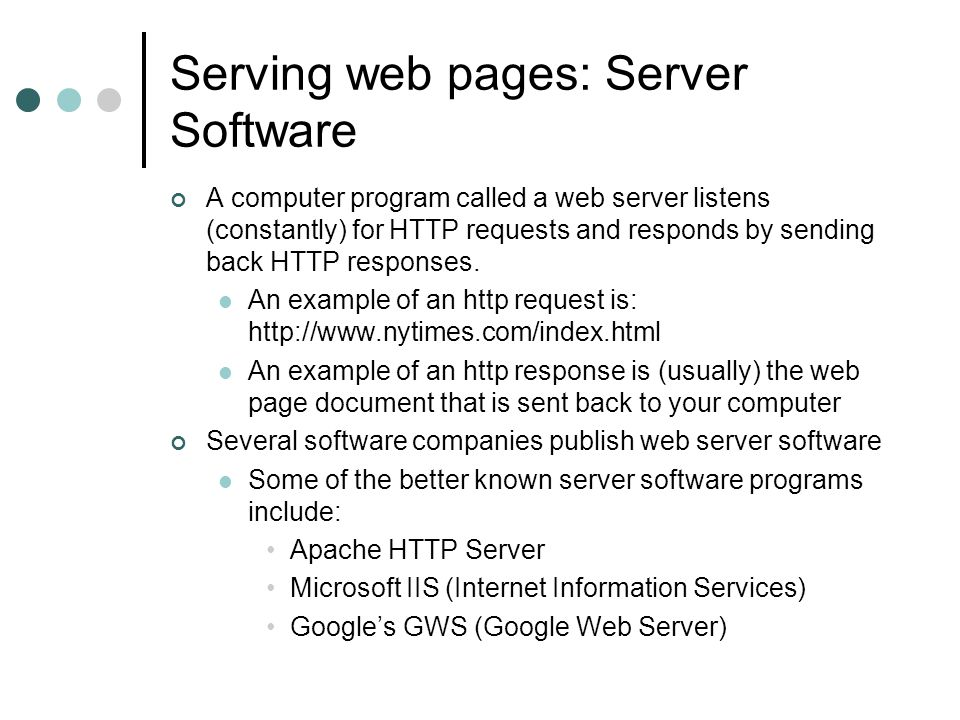 Serving web pages – Creating and uploading information Good part of what we will do in the rest of this course….