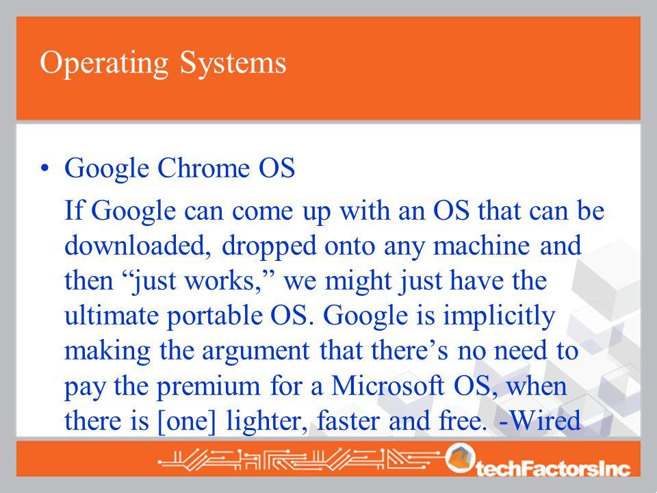 Operating Systems Google Chrome OS