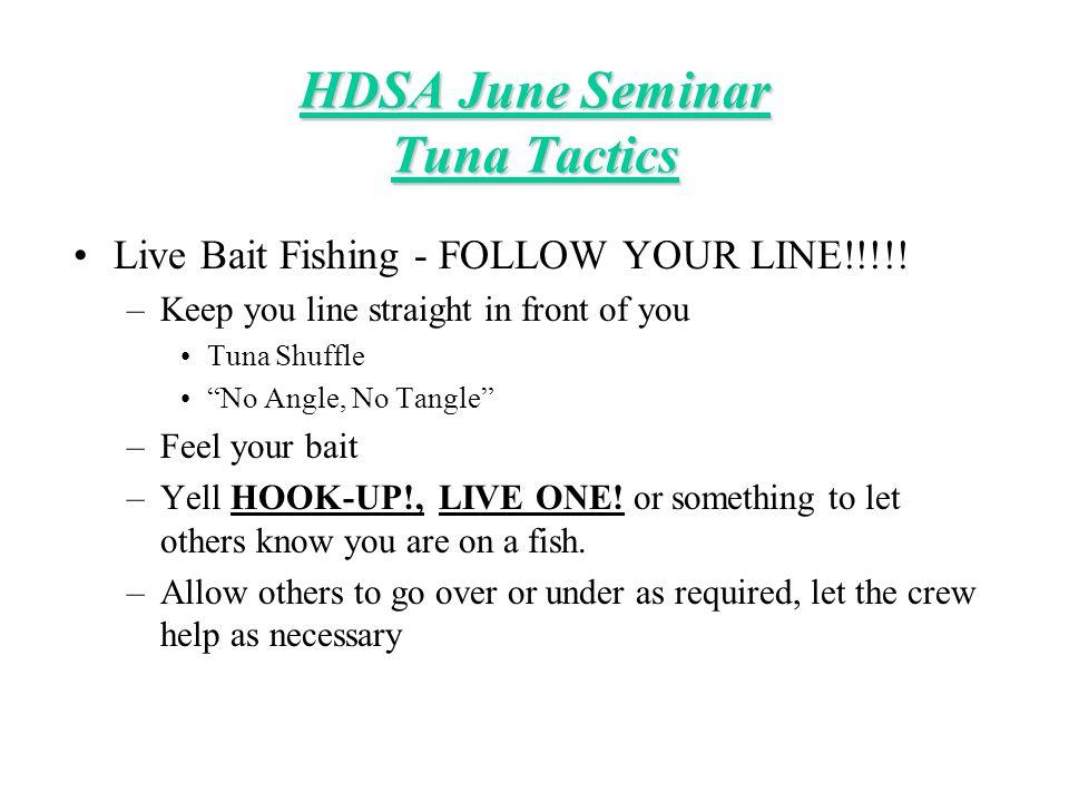 Jig Fishing –YO-YO –Cast, sink and reel fast! HDSA June Seminar Tuna Tactics