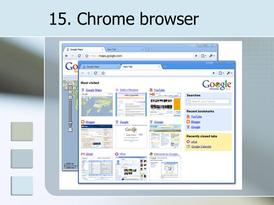 15. Chrome browser