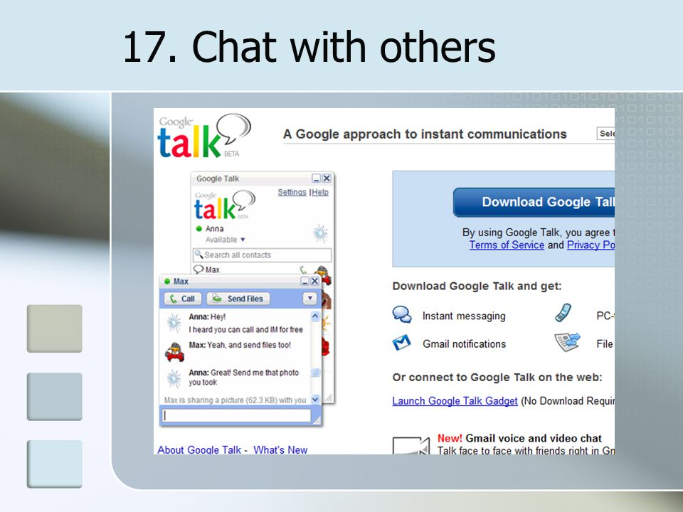 17. Chat with others