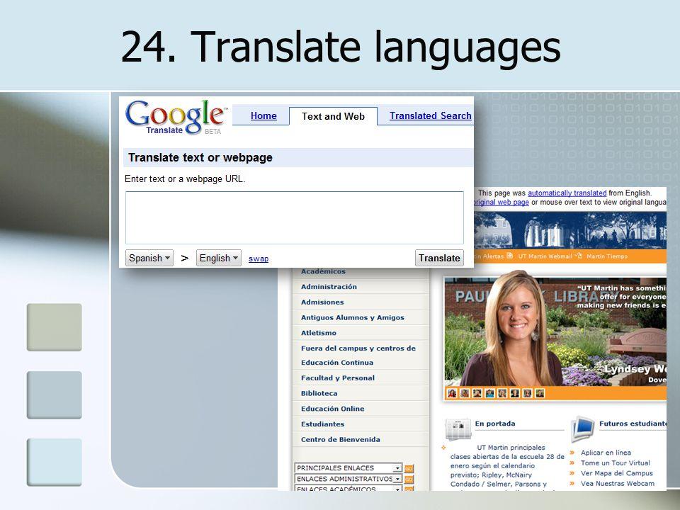 24. Translate languages