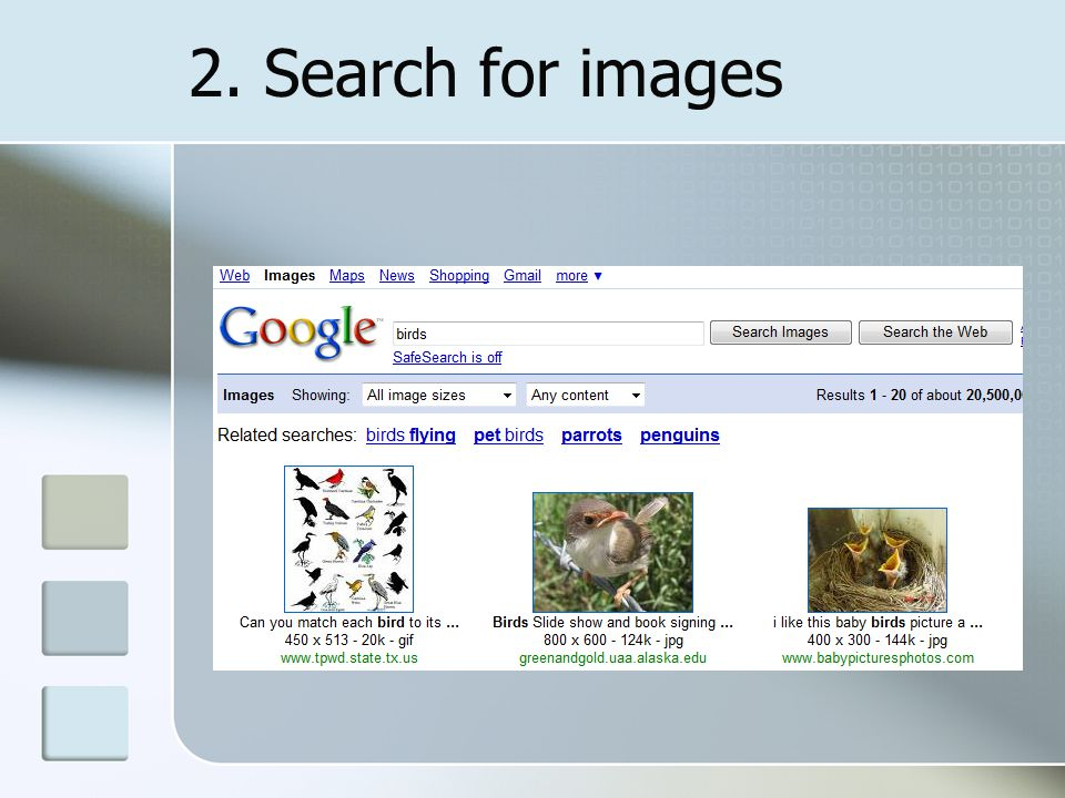 2. Search for images