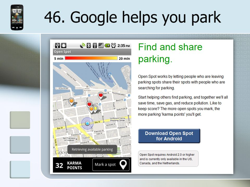 46. Google helps you park