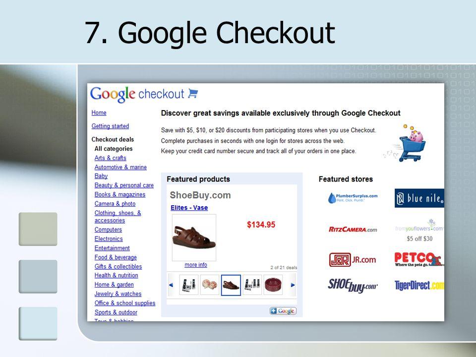 7. Google Checkout
