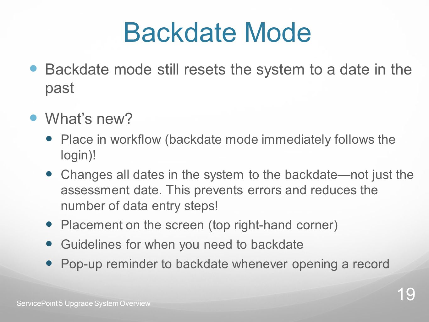 Backdate Mode Backdate mode still resets the system to a date in the past What's new.