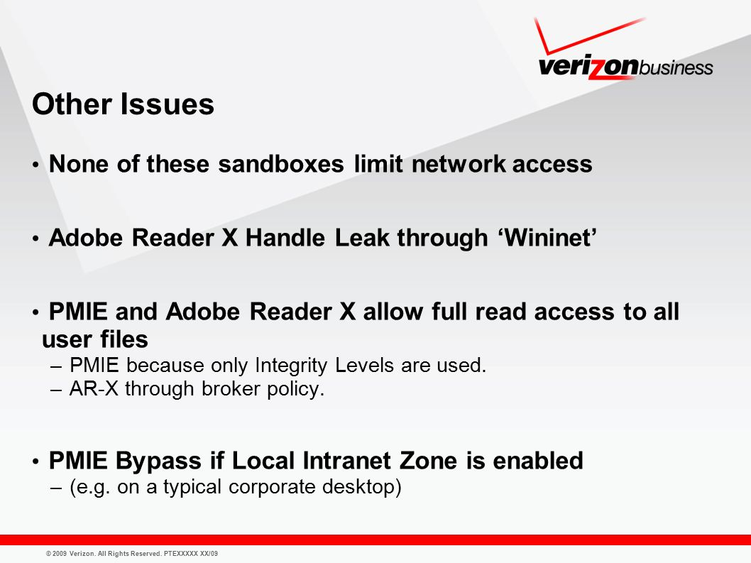 © 2009 Verizon. All Rights Reserved.