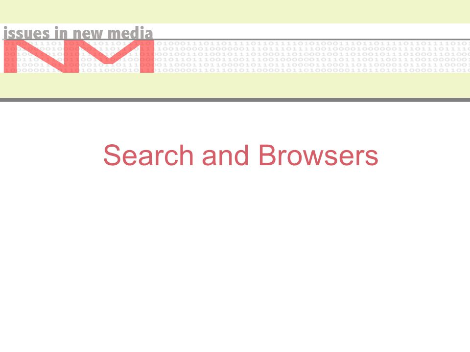 Search and Browsers
