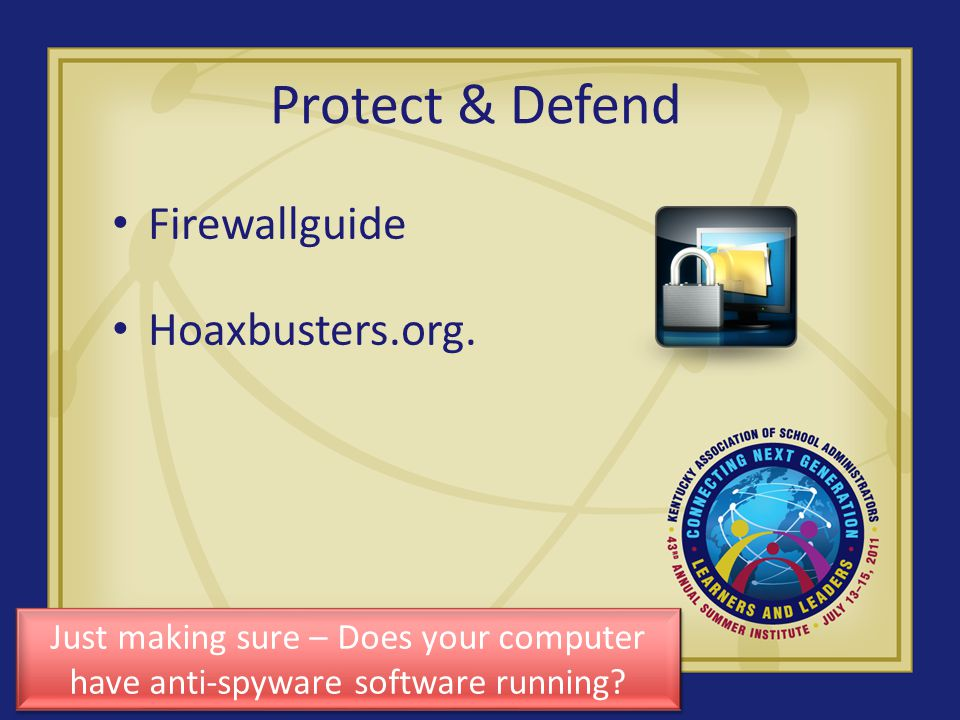 Protect & Defend Firewallguide Hoaxbusters.org.