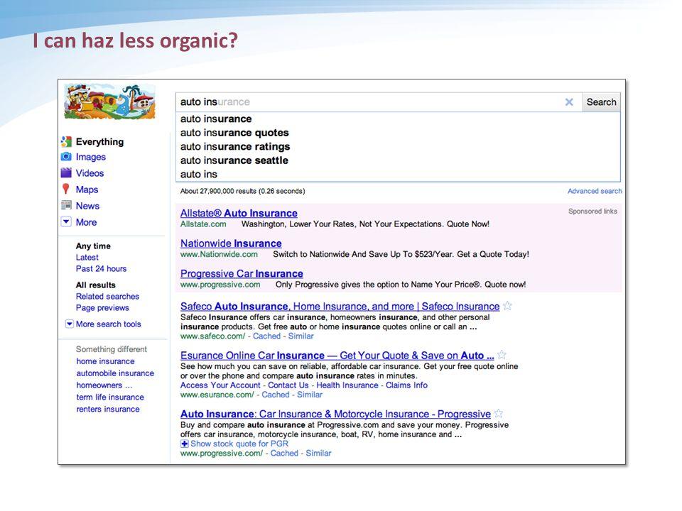 I can haz less organic
