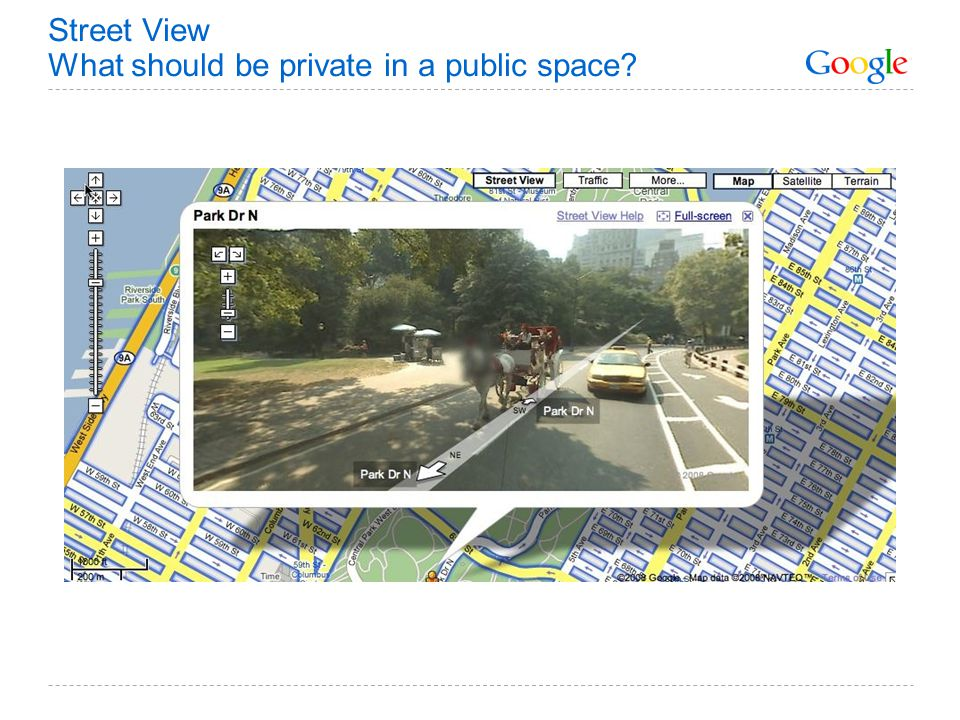 Street View What should be private in a public space