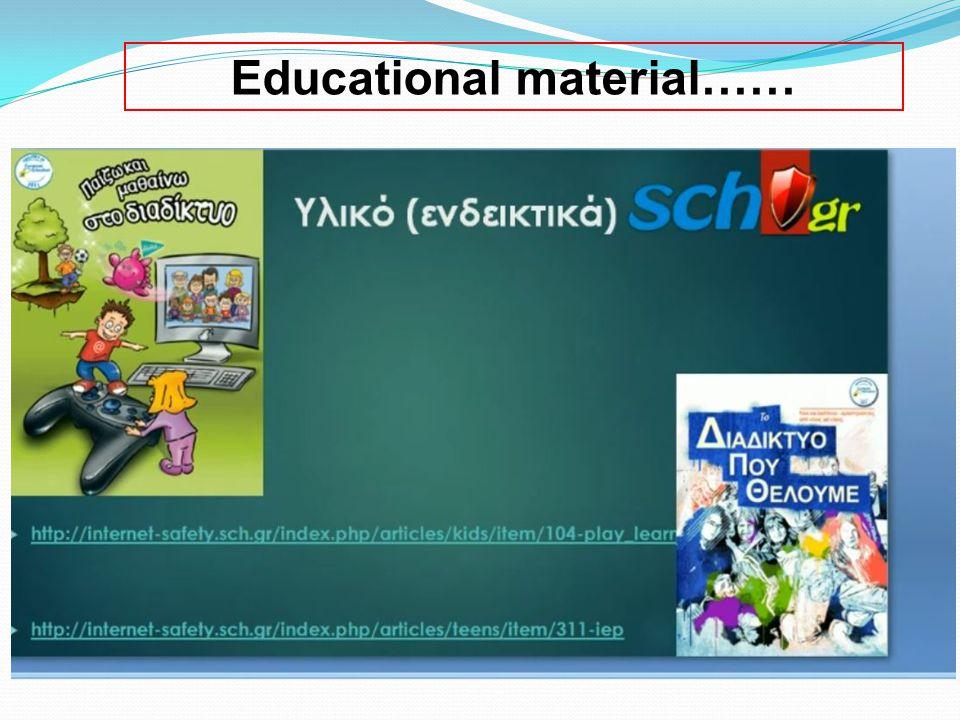 Educational material……