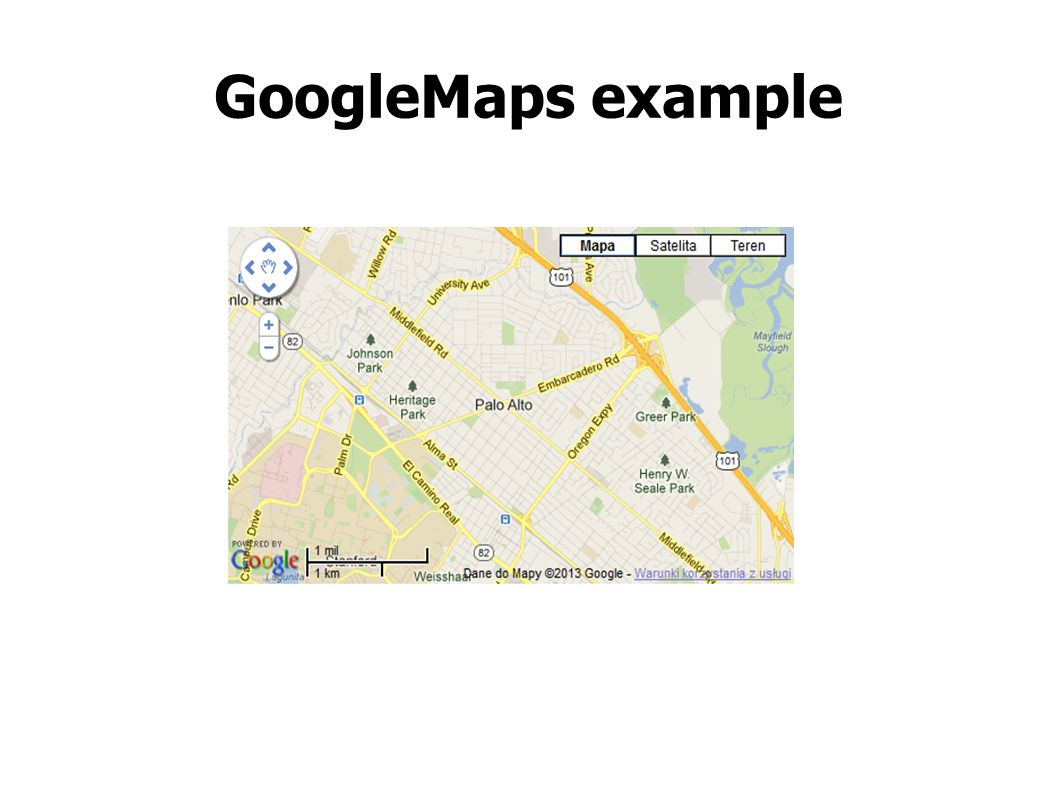 GoogleMaps example