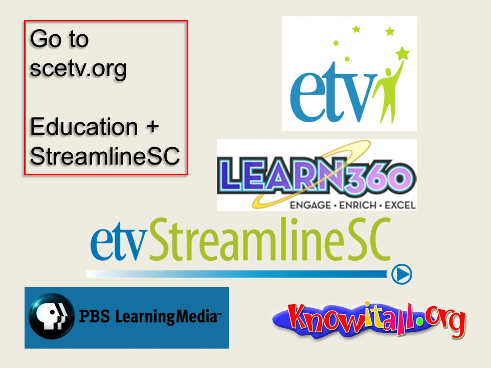 Go to scetv.org Education + StreamlineSC Go to scetv.org Education + StreamlineSC