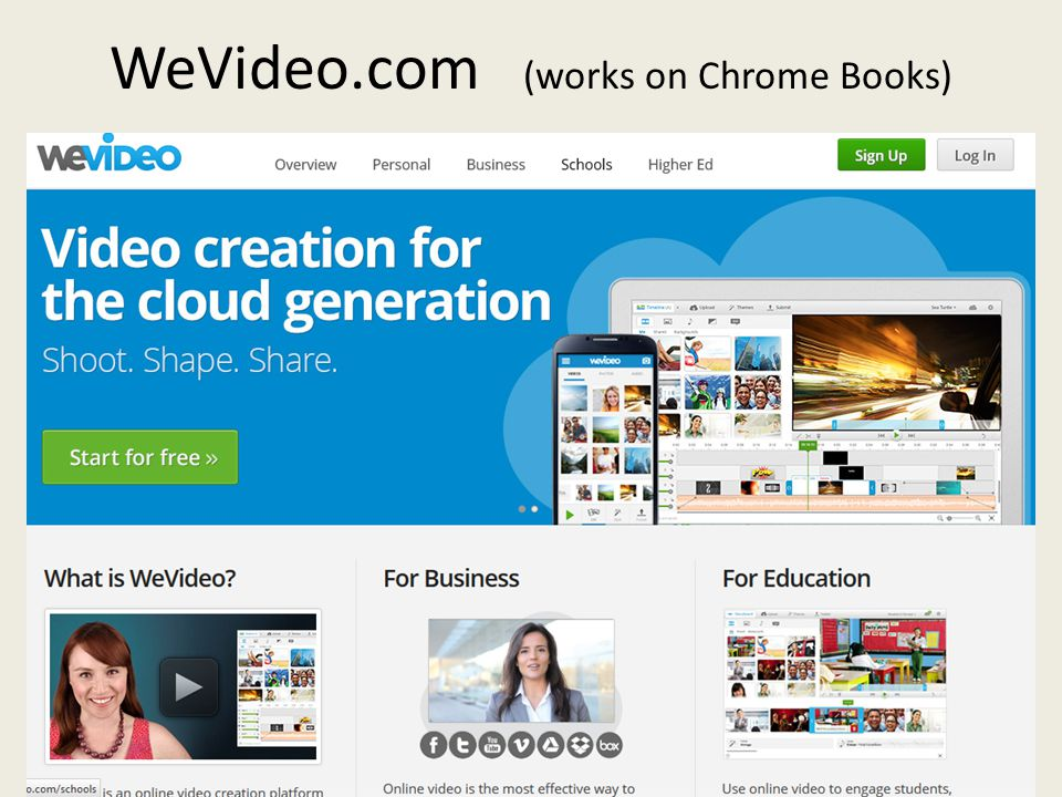 WeVideo.com (works on Chrome Books)