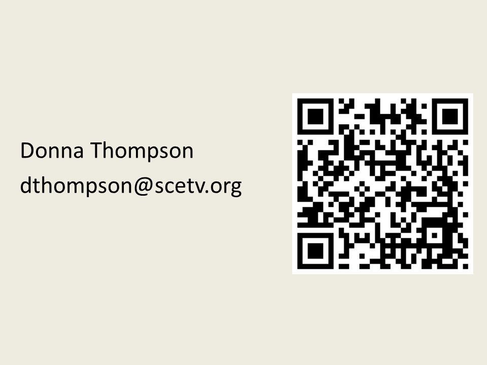 Donna Thompson dthompson@scetv.org