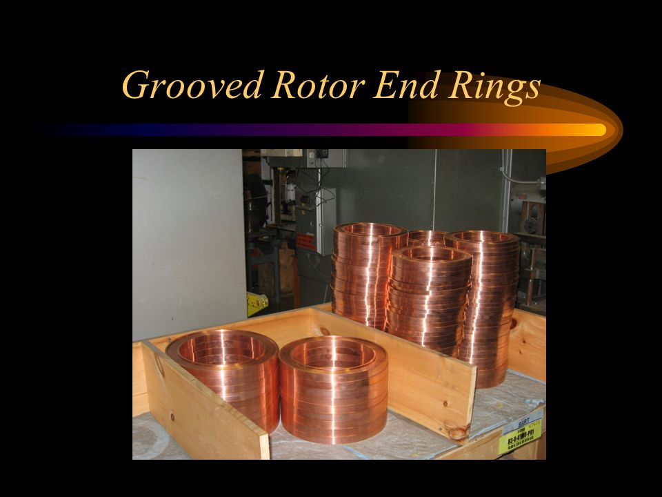 Grooved Rotor End Rings