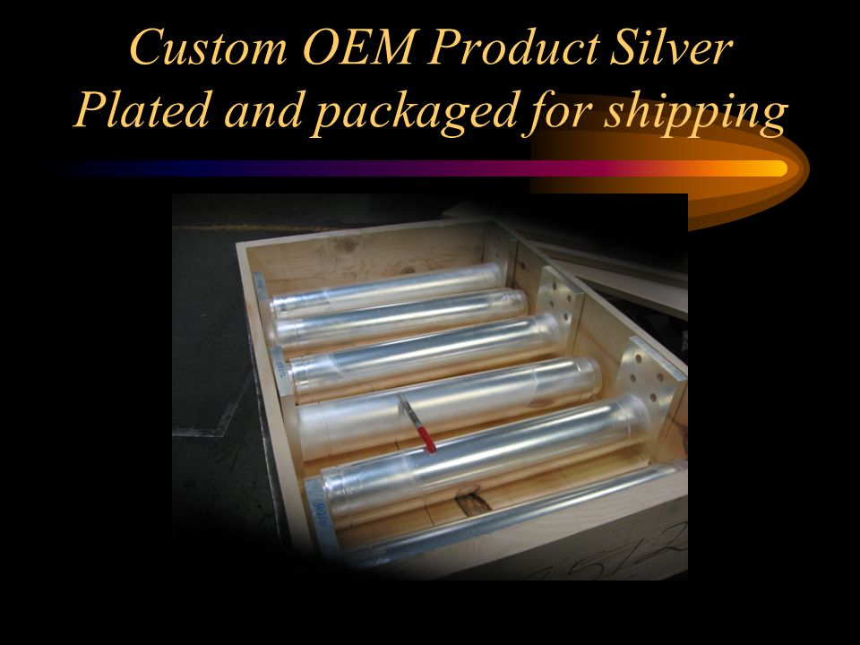 Custom OEM Product Silver Plated and packaged for shipping