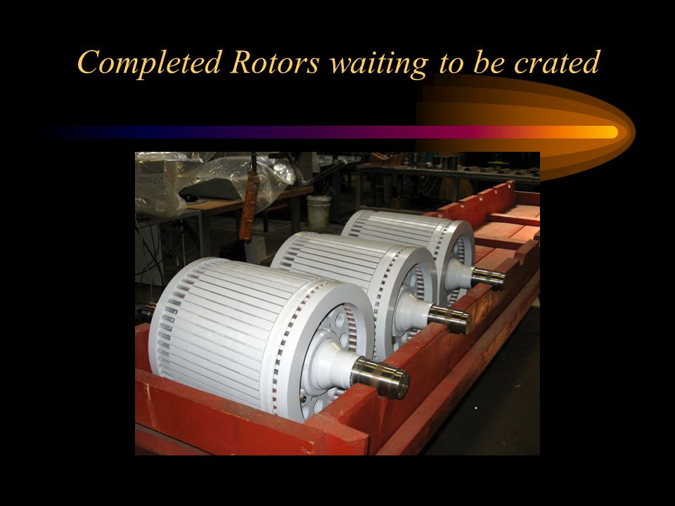 Completed Rotors waiting to be crated