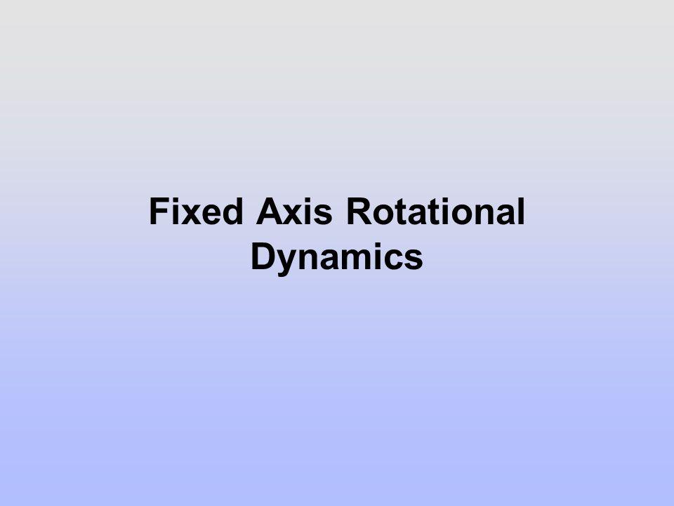 Fixed Axis Rotational Dynamics