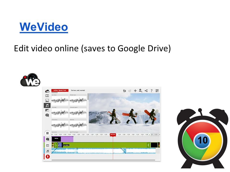 WeVideo Edit video online (saves to Google Drive) 10