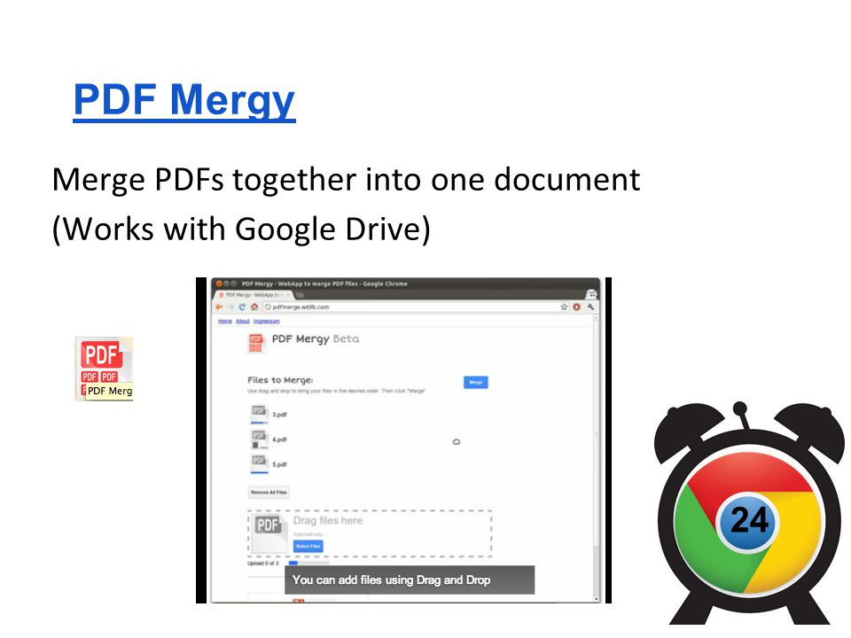 PDF Mergy Merge PDFs together into one document (Works with Google Drive) 24