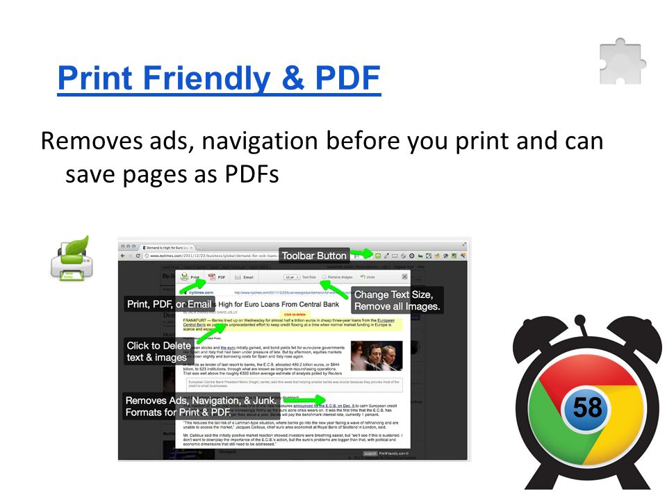 Print Friendly & PDF Removes ads, navigation before you print and can save pages as PDFs 58