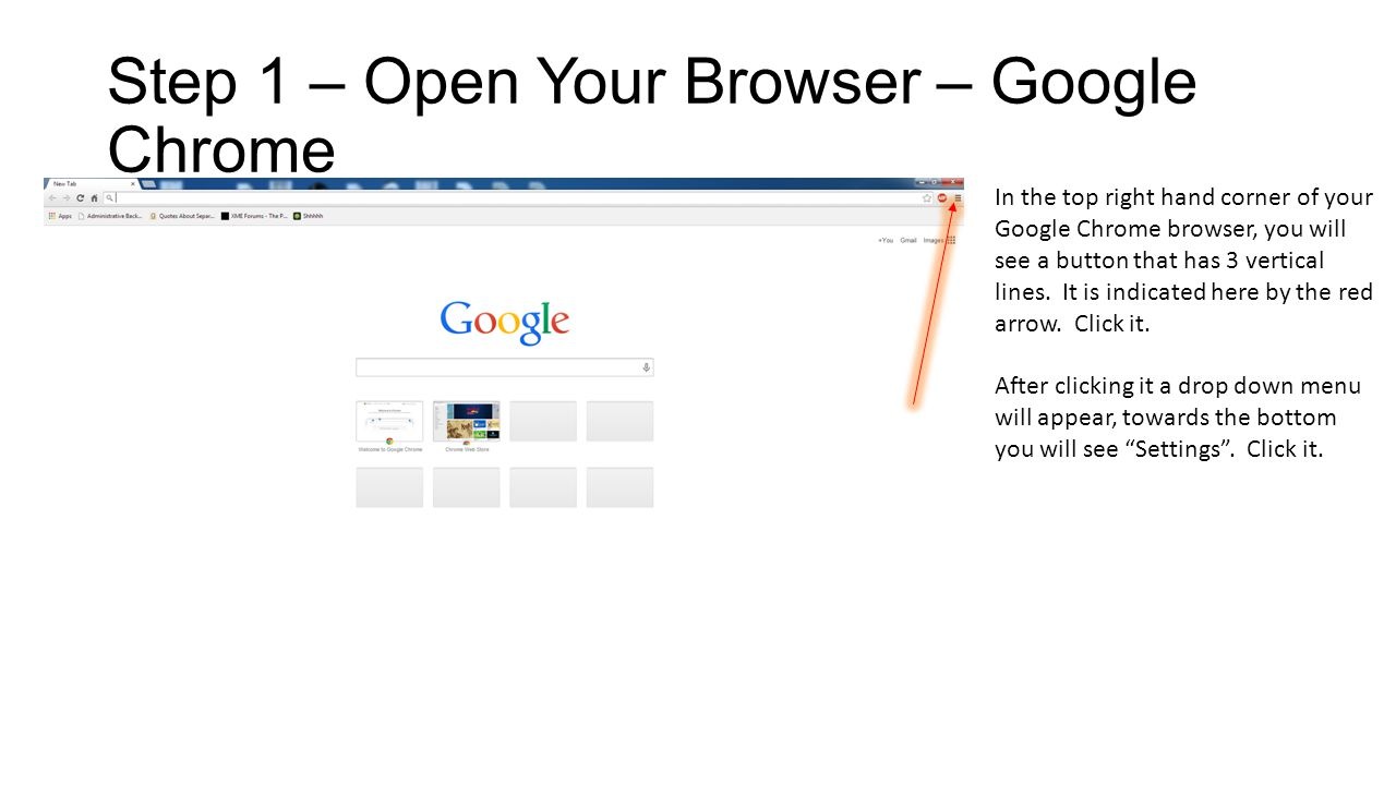 Step 2 – Google Chrome Once you have navigated your way to this page, click the View Advanced Settings link text.