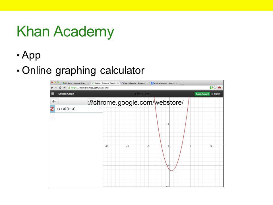Khan Academy App Online graphing calculator ://chrome.google.com/webstore/