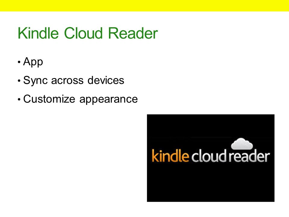 Kindle Cloud Reader App Sync across devices Customize appearance