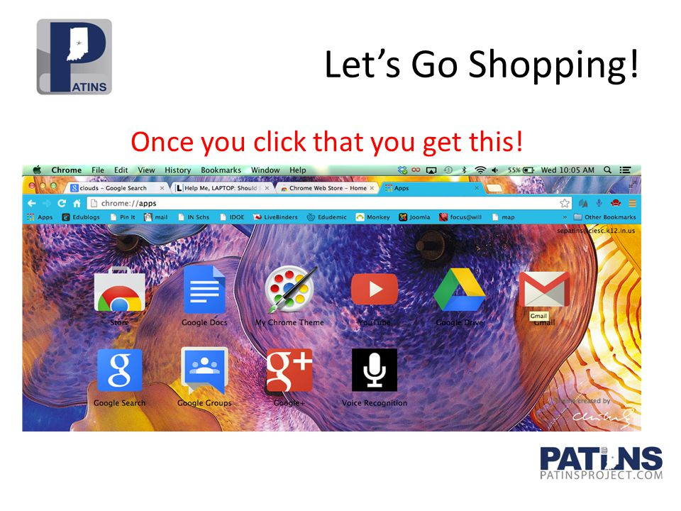 Let's Go Shopping! Once you click that you get this!