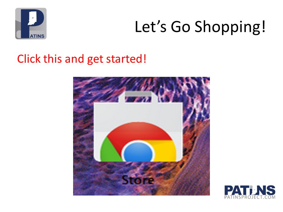 Let's Go Shopping! Click this and get started!