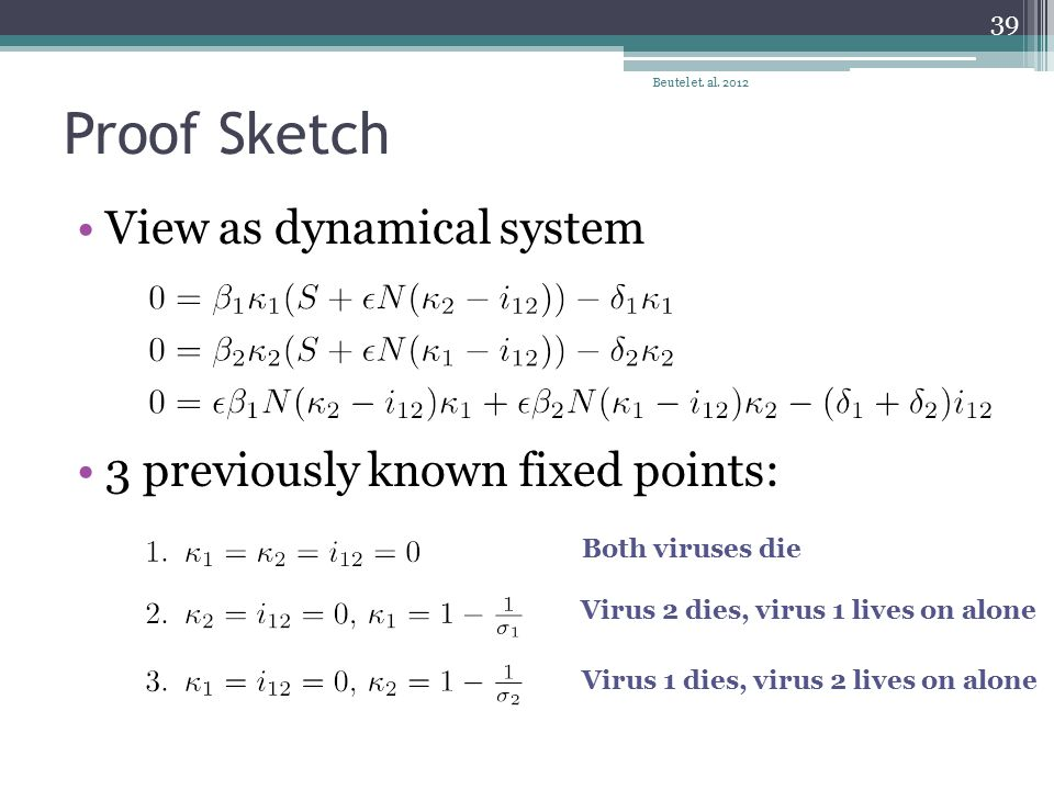 Proof Sketch View as dynamical system 3 previously known fixed points: Beutel et.