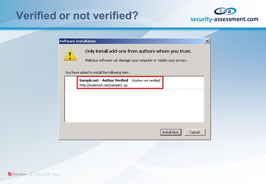 Verified or not verified