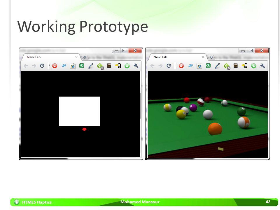 HTML5 Haptics Working Prototype Mohamed Mansour42