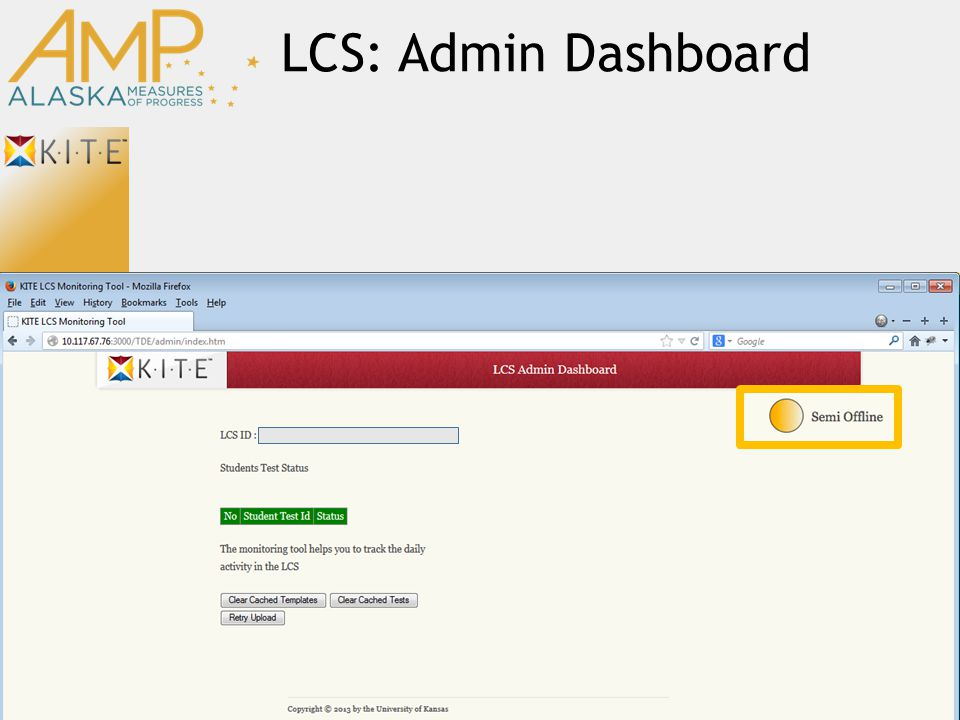 LCS: Admin Dashboard