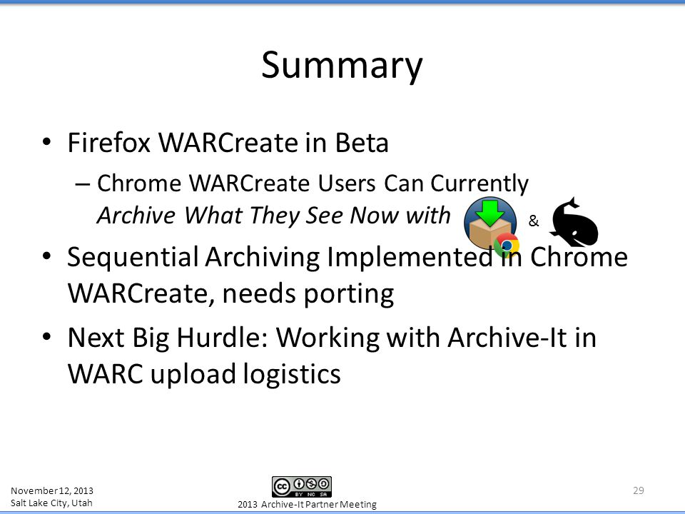 Firefox WARCreate in Beta – Chrome WARCreate Users Can Currently Archive What They See Now with Sequential Archiving Implemented in Chrome WARCreate,