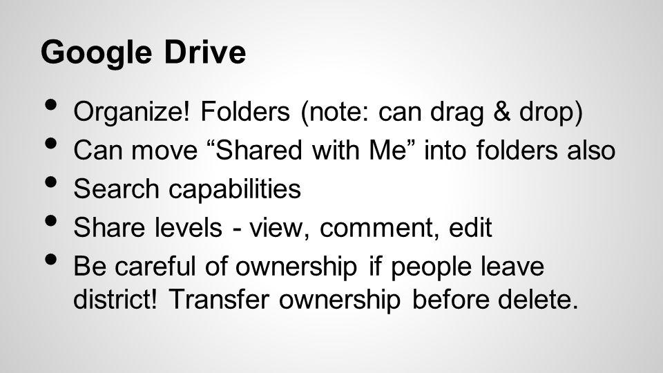 Google Drive Organize.