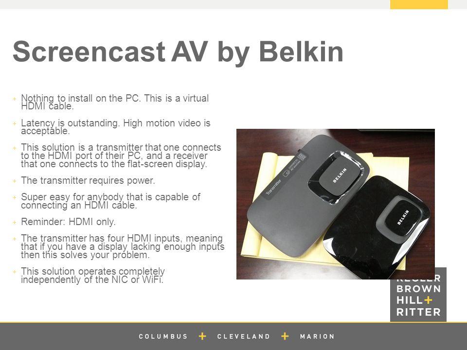 z Screencast AV by Belkin  Nothing to install on the PC.