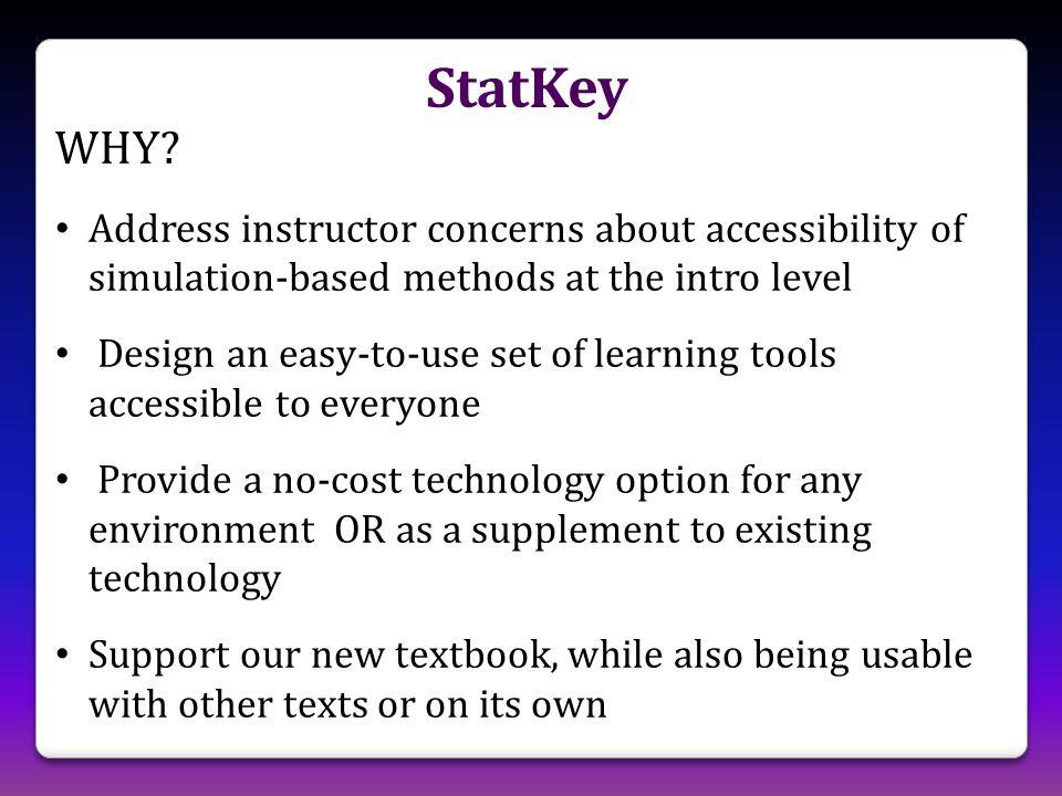 StatKey WHY.