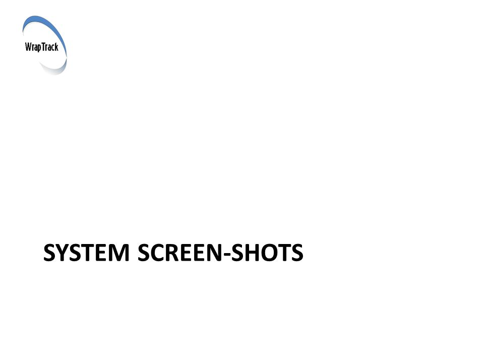 SYSTEM SCREEN-SHOTS