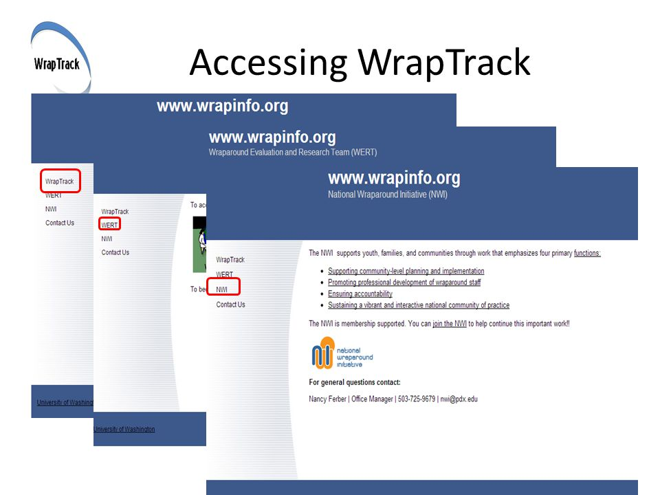 Accessing WrapTrack