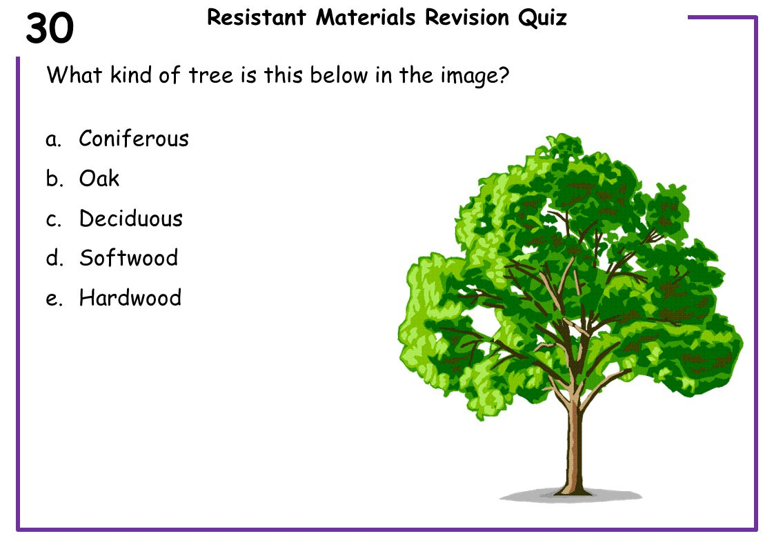 Resistant Materials Revision Quiz What type of production is applied to the paper clip.