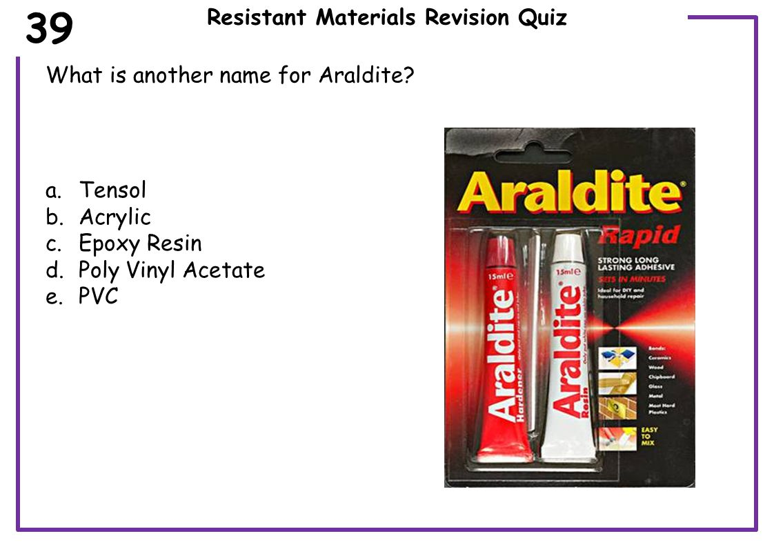Resistant Materials Revision Quiz What is the correct name for this tool part.