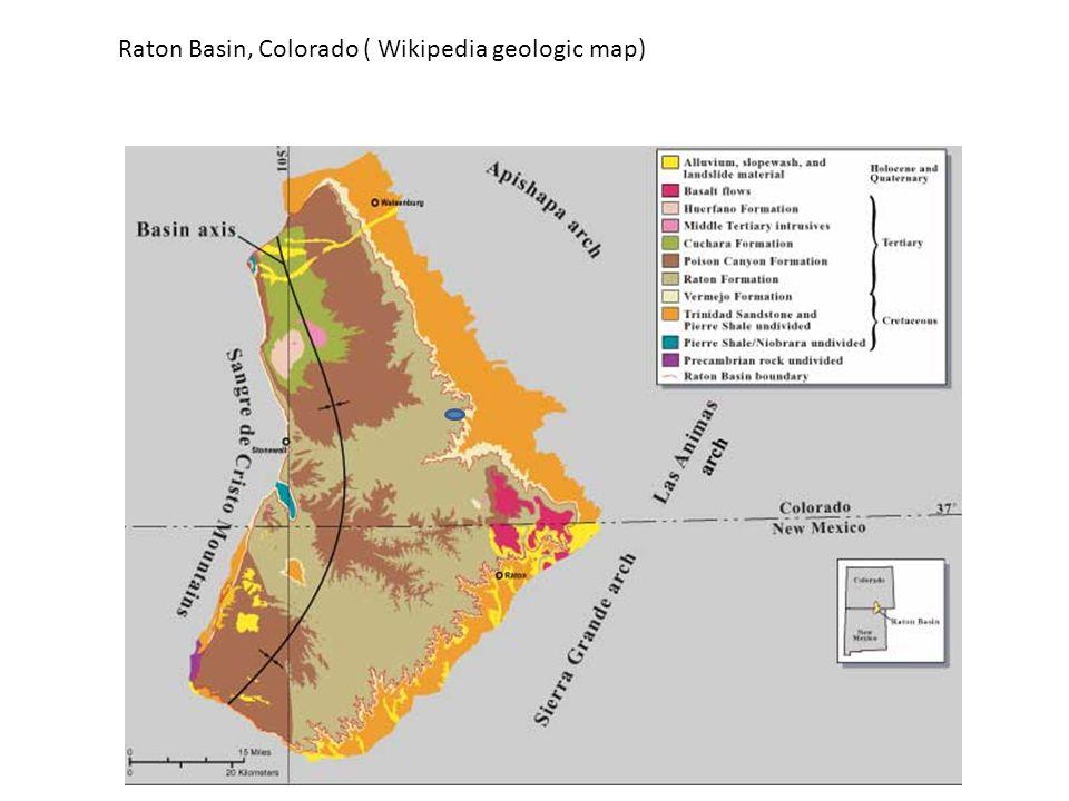 Raton Basin, Colorado ( Wikipedia geologic map)