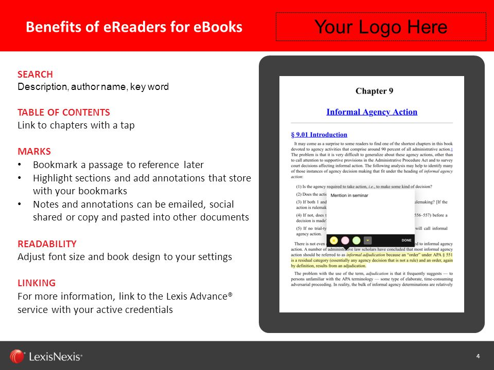 15 Capability / Sub-brand / Product Name (Change or Delete Text from Master) LexisNexis Confidential 15 Getting Started with READ – Step 2 Your Logo Here Click the Menu button to display options.
