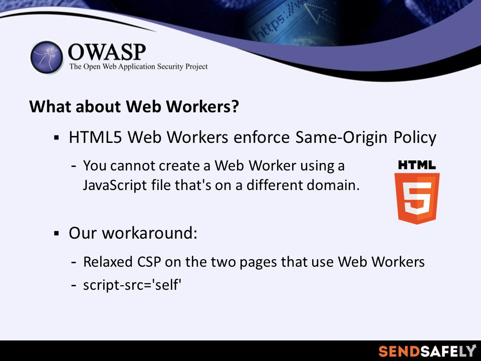 What about Web Workers.