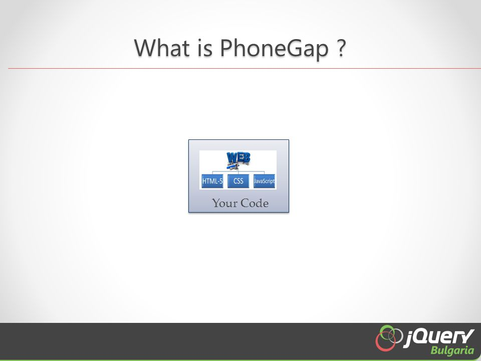What is PhoneGap ? Native Web View Your Code