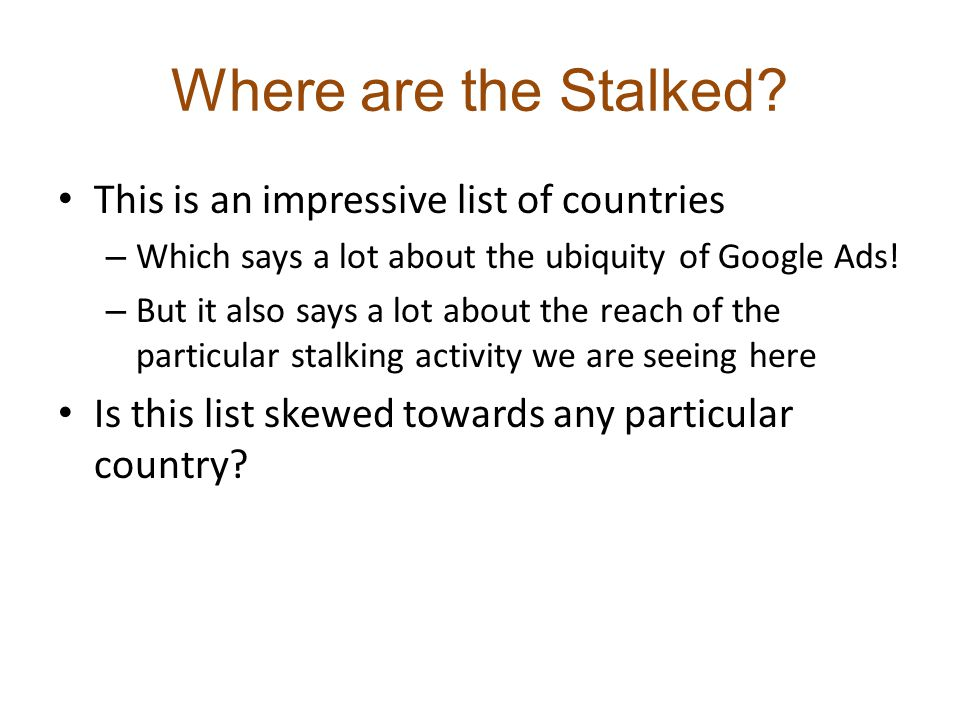 Where are the Stalked.